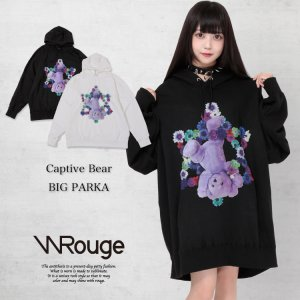 【30%OFF】WRouge(ルージュ) Captive Bear BIG パーカー