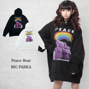 <img class='new_mark_img1' src='https://img.shop-pro.jp/img/new/icons1.gif' style='border:none;display:inline;margin:0px;padding:0px;width:auto;' />Peace Bear BIG パーカー
