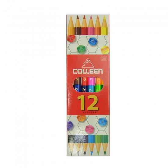 コーリン鉛筆 787六角色鉛筆 6本12色