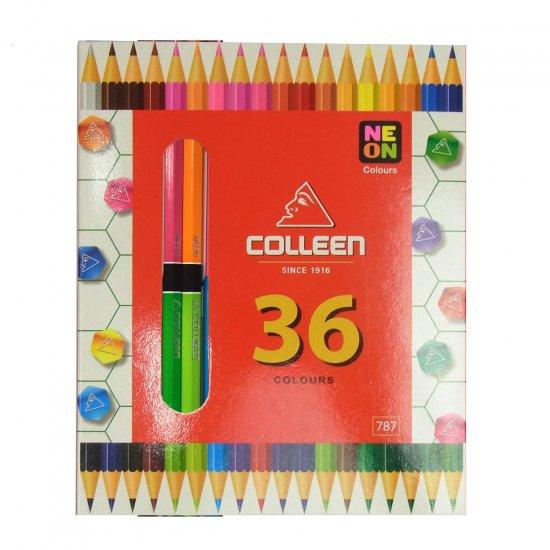 コーリン鉛筆 787六角色鉛筆 18本36色