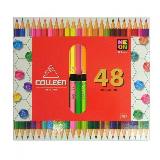 コーリン鉛筆 787六角色鉛筆 24本48色