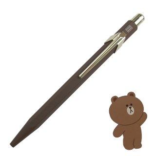 CARANDACHE(カランダッシュ)849カランダッシュ+LINE FRIENDS ブラウン ボールペン