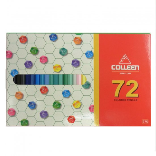 コーリン鉛筆 775六角色鉛筆 72色