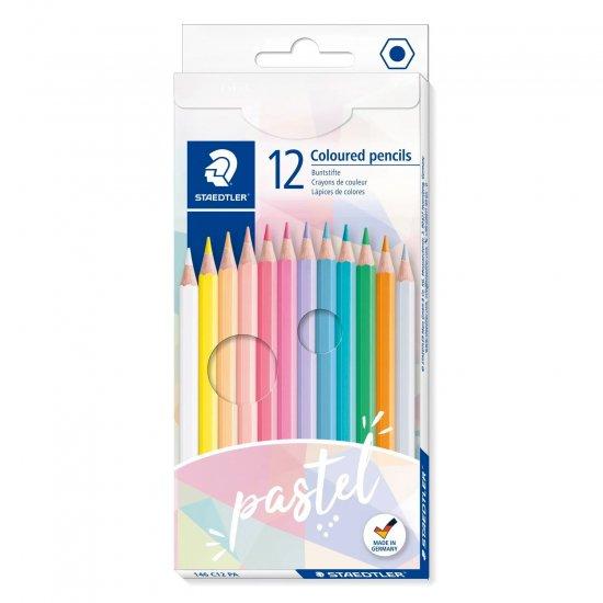 【輸入品】STAEDTLER 色鉛筆パステルカラー12色セット
