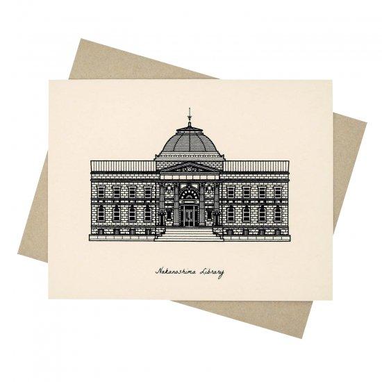 sutta グリーティングカード Nakanoshima Library