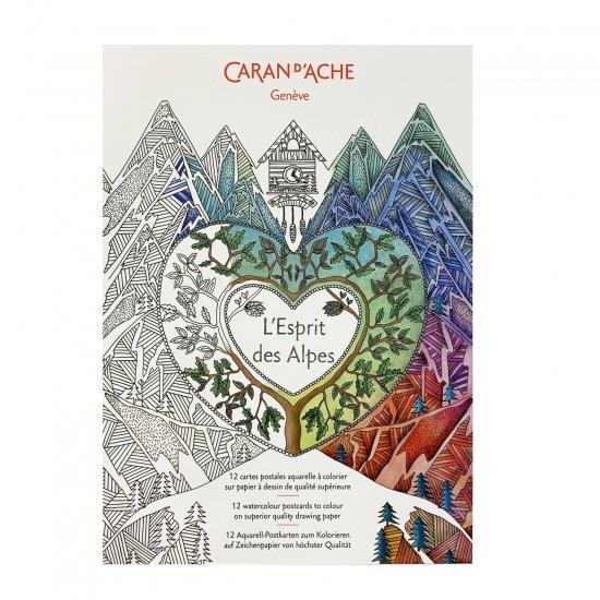 CARAND'ACHE(カランダッシュ) コロリアージュ塗り絵ポストカード