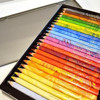 KOH-I-NOOR/コヒノール 太軸マーブル色鉛筆23色+1