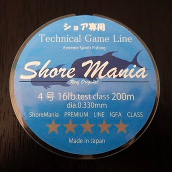 Reeforiginal ShoreMania ショア専用 Technical Game Line 16lb/4号 200m