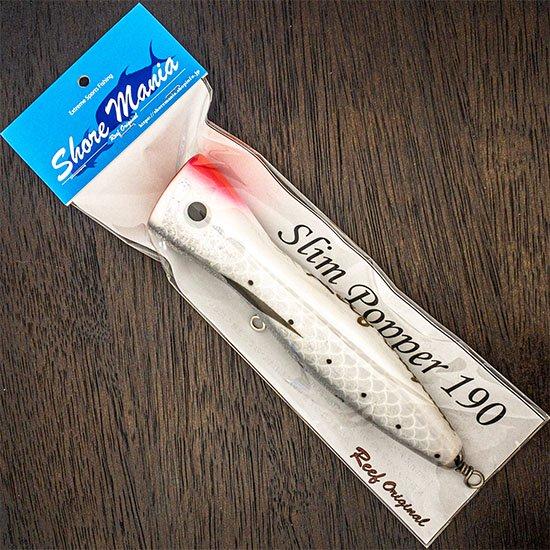 Slim Popper 190 鱗ホワイトピンク頭