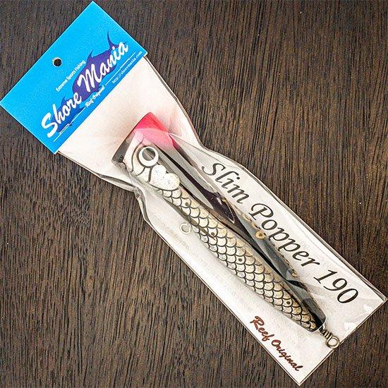 Slim Popper 190 鱗ブラック ピンク頭