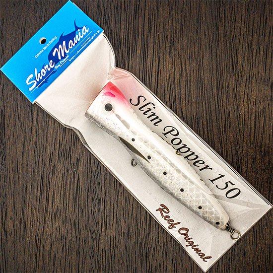 Slim Popper 150 鱗ホワイトピンク頭