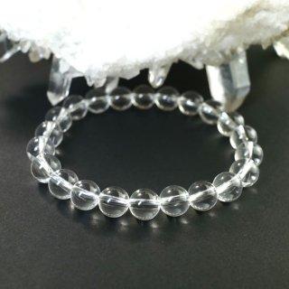 水晶8ミリ玉ブレスレットAAA
