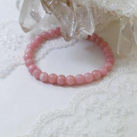 ピンクアラゴナイト6ミリ玉ブレスレットAA