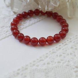 赤色カーネリアン8ミリ玉ブレスレットAA