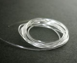結びやすい国産透明ゴム0.8ミリ(1m)