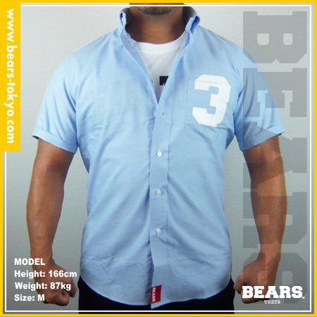 ■ BEARS TOKYO シャツ 3(スリー)ブルー