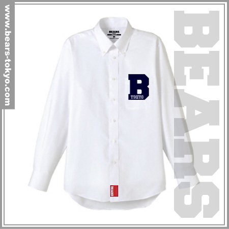 ■ BEARS TOKYO 長袖シャツ B (ビー)ホワイト