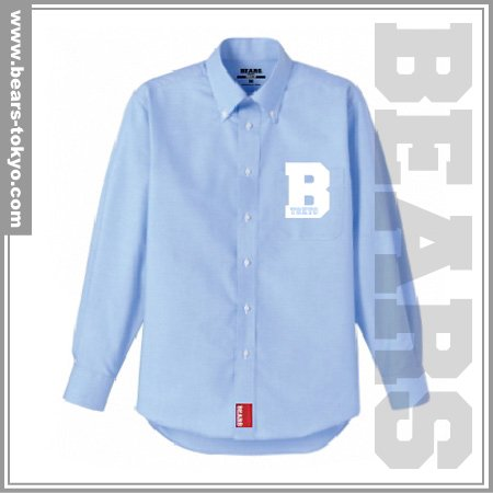■ BEARS TOKYO 長袖シャツ B (ビー)ブルー