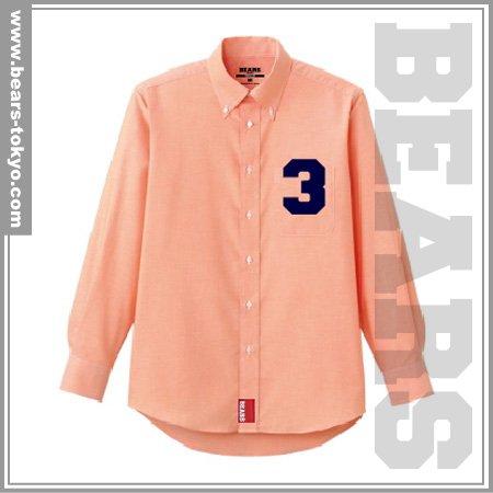 ■ BEARS TOKYO 長袖シャツ 3 (スリー) オレンジ