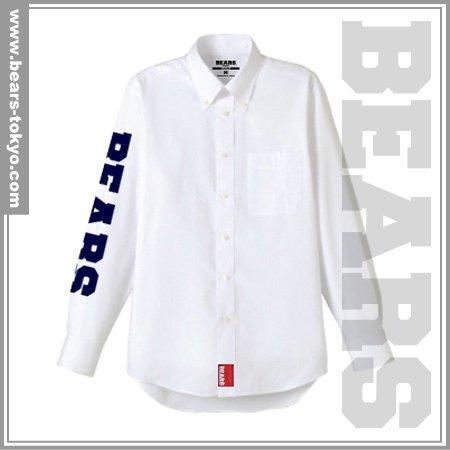 ■ BEARS TOKYO 長袖シャツ BEARS SLEEVE (ベアーズスリーブ) ホワイト
