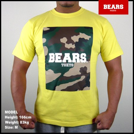 <img class='new_mark_img1' src='//img.shop-pro.jp/img/new/icons13.gif' style='border:none;display:inline;margin:0px;padding:0px;width:auto;' />■ BEARS TOKYO Tシャツ MILITARY CAMO BEARS (ミリタリーカモフラージュベアーズ) イエロー