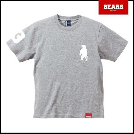■ BEARS TOKYO Tシャツ ANIMAL BEAR TEE (ベアーT) グレー×ホワイト