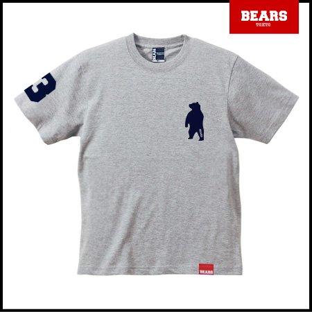 ■ BEARS TOKYO Tシャツ ANIMAL BEAR TEE (ベアーT) グレー×ネイビー
