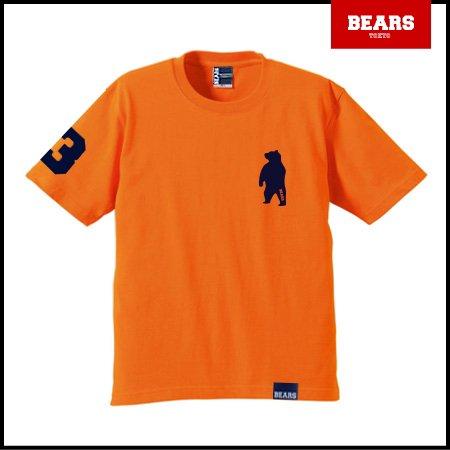 ■ BEARS TOKYO Tシャツ ANIMAL BEAR TEE (ベアーT) オレンジ