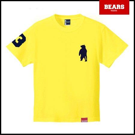 ■ BEARS TOKYO Tシャツ ANIMAL BEAR TEE (ベアーT) イエロー