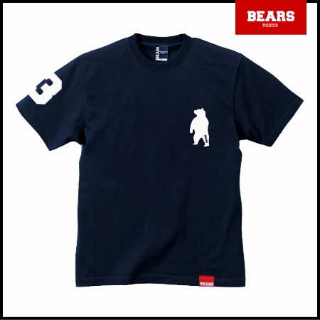 ■ BEARS TOKYO Tシャツ ANIMAL BEAR TEE (ベアーT) ネイビー