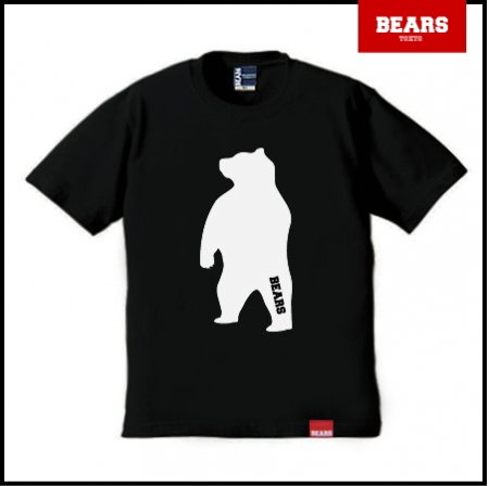 ■ BEARS TOKYO Tシャツ ANIMAL BIG BEAR TEE (ビッグベアーT) ブラック