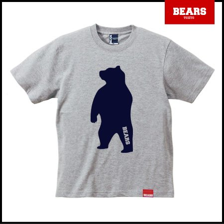 ■ BEARS TOKYO Tシャツ ANIMAL BIG BEAR TEE (ビッグベアーT) グレー×ネイビー