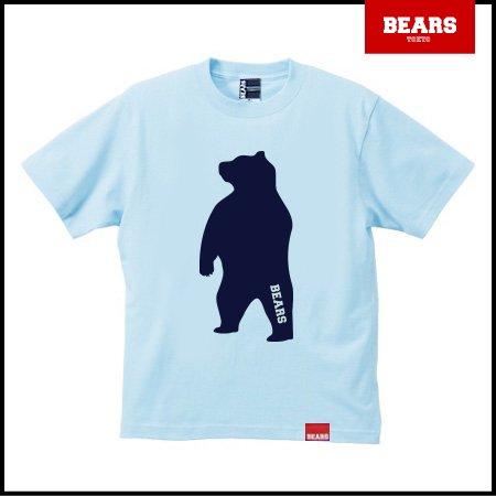 ■ BEARS TOKYO Tシャツ ANIMAL BIG BEAR TEE (ビッグベアーT) ライトブルー