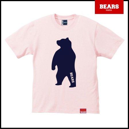 ■ BEARS TOKYO Tシャツ ANIMAL BIG BEAR TEE (ビッグベアーT) ライトピンク