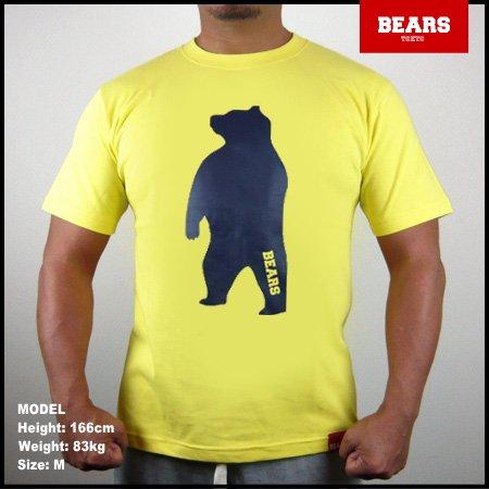 ■ BEARS TOKYO Tシャツ ANIMAL BIG BEAR TEE (ビッグベアーT) イエロー