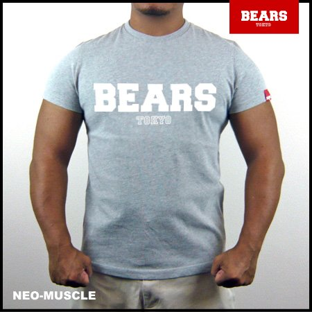 <img class='new_mark_img1' src='//img.shop-pro.jp/img/new/icons13.gif' style='border:none;display:inline;margin:0px;padding:0px;width:auto;' />■ BEARS TOKYO Tシャツ BEARS LOGO (ベアーズ ロゴ) グレー×ホワイト