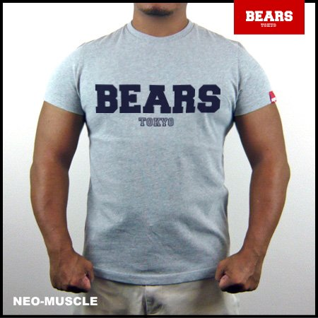 <img class='new_mark_img1' src='//img.shop-pro.jp/img/new/icons13.gif' style='border:none;display:inline;margin:0px;padding:0px;width:auto;' />■ BEARS TOKYO Tシャツ BEARS LOGO (ベアーズ ロゴ) グレー×ネイビー