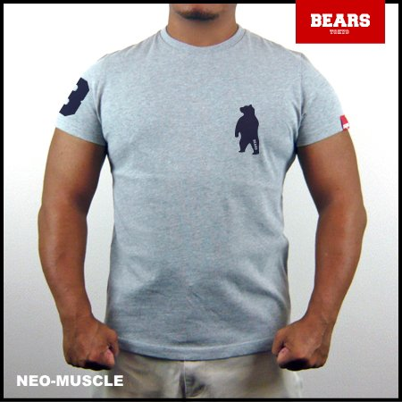 <img class='new_mark_img1' src='//img.shop-pro.jp/img/new/icons13.gif' style='border:none;display:inline;margin:0px;padding:0px;width:auto;' />■ BEARS TOKYO Tシャツ ANIMAL BEAR TEE (ベアーT) グレー×ネイビー
