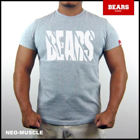 <img class='new_mark_img1' src='//img.shop-pro.jp/img/new/icons13.gif' style='border:none;display:inline;margin:0px;padding:0px;width:auto;' />■ BEARS TOKYO Tシャツ TOUGH (タフ) グレー×ホワイト