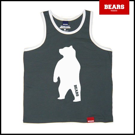 ■ BEARS TOKYO タンクトップ ANIMAL BIG BEAR TANK TOP (ビッグベアータンクトップ) グレー