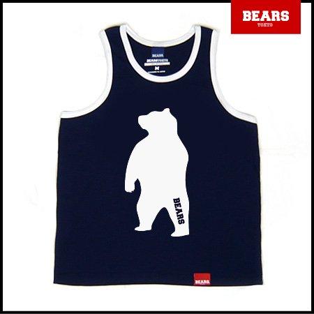■ BEARS TOKYO タンクトップ ANIMAL BIG BEAR TANK TOP (ビッグベアータンクトップ) ネイビー