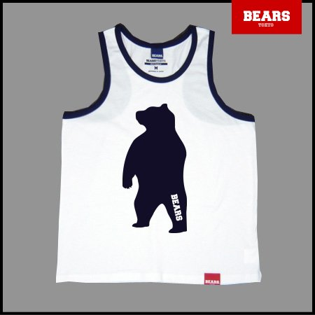 ■ BEARS TOKYO タンクトップ ANIMAL BIG BEAR TANK TOP (ビッグベアータンクトップ) ホワイト