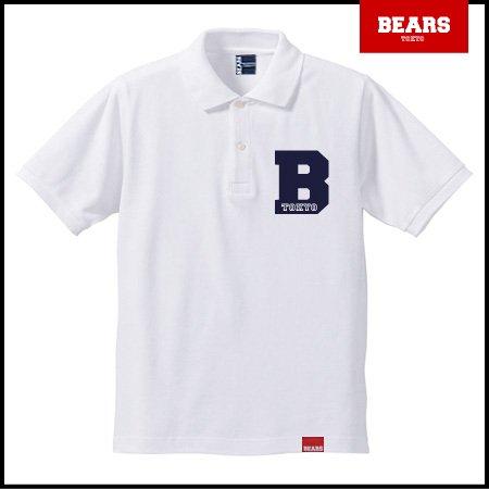 ■ BEARS TOKYO ポロシャツ B (ビー) ホワイト