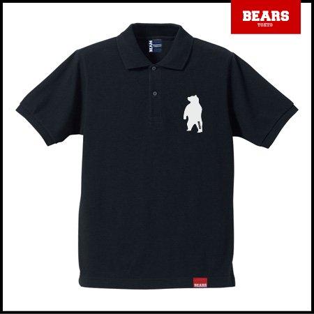 ■ BEARS TOKYO ポロシャツ ANIMAL BEAR POLO 2 (ベアーポロ2) ブラック