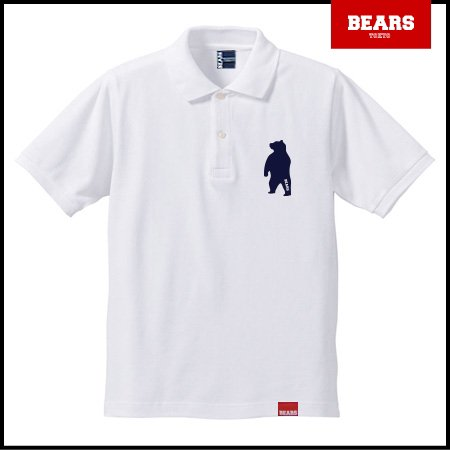 ■ BEARS TOKYO ポロシャツ ANIMAL BEAR POLO 2 (ベアーポロ2) ホワイト
