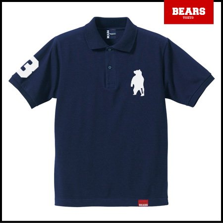■ BEARS TOKYO ポロシャツ ANIMAL BEAR POLO (ベアーポロ) ネイビー