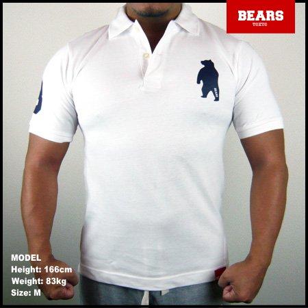 ■ BEARS TOKYO ポロシャツ ANIMAL BEAR POLO (ベアーポロ) ホワイト