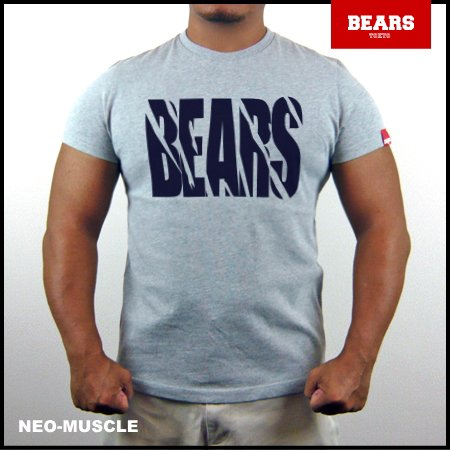 <img class='new_mark_img1' src='//img.shop-pro.jp/img/new/icons13.gif' style='border:none;display:inline;margin:0px;padding:0px;width:auto;' />■ BEARS TOKYO Tシャツ TOUGH (タフ) グレー×ネイビー