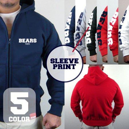 ■ BEARS LOGO スウェットジップパーカー BEARS SLEEVE (ベアーズスリーブ) 5色展開