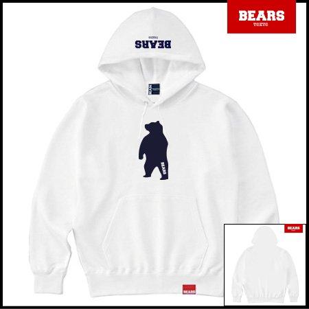■ ANIMAL BEAR MIDDLE プルオーバースウェットパーカー ANIMAL BEAR MIDDLE(アニマルベアーミドル )ホワイト